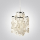 Mini Sea-shell Shaded Pendant Light 2 Tiers