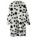 Cow Style Polka Dot Pattern Longline Shirt