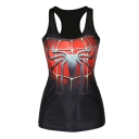 Spider Man Print Black Tanks