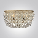 Illuminate Your Decor with Wall Sconce Adorned with Shining Clear Crystal Beads