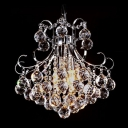 Corona Chrome Crystal Chandelier with Array of Crystal Spheres Pedant Light