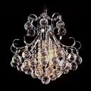 Corona Chrome Crystal Chandelier with Array of Crystal Spheres Pedant Light