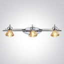 Refresh Your Bathroom Lighting with Glistening Contemporary Bath Light Finished in Chrome