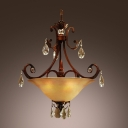 Beautiful Brass Finish Paired With Warm Glow of Glass Pendant Chandelier Offers Breathtaking Addition to Your Decor