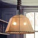 2 Lights LED Chandelier Marble