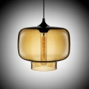 Industrial Colored Glass LOFT Tank Shaped Chandelier Pendant
