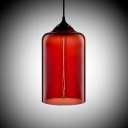 Vintage Industrial Colored Glass LOFT Downward Chandelier Pendant