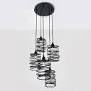 Spiral Nest Miulto-light Pendant by Designer Lighting