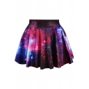 High waist Galaxy Tie Dye Pleated Mini Skirt