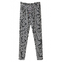 Benz Signboard Print Elastic Waist Pants with Belt