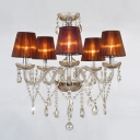 Delicate Five Lights Brown Empire Shades Glass 23.6