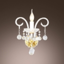 Beautiful Vase Design Crystal Wall Light Fixture Offers an Elegance Embellishment