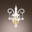 Beautiful Vase Design Crystal Wall Light Fixture Offers an Elegance Embellishment