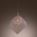Cool Modern Stunning Chandelier Featuring Spectacular Cube Frame and Glittering Crystals