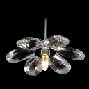 Beautiful Flower Shaped Mini Pendant Shine with Fabulous Crystal Floral Petals