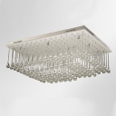 Stunning Clear Crystal Rain Square Stainless Steel Canopy 23.6