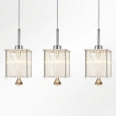Smashing Multi-Light Pendant Features Three Rectangular Shades Pairs with Delicate Square Base