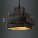 Rustic Black  1 Light Pendant