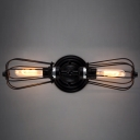 Metal Cage LOFT LED Wall Lamp Vintage Industrial Sconce Deco Lamp