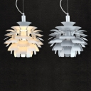 Metal Pine cone Designer Lighting Pendant In 15 Inches