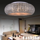Crystal Beaded Round Lavish and Garceful Crystal Flush Mount Light Finshed in Chrome