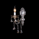 Delicate Shining Zin Alloy Single Light Fixture with Beautiful Lead Crystal