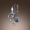Distinguished Design Add Charm to Sparkling Single Light Crystal Wall Sconce
