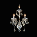 Splendid Magnificent Design Add Exquisite Embelishment to Elegant Crystal Wall Light Fixture