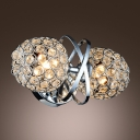 Spectacular Modern Design Wall Sconce Complete with Crystal Beads and Polished Chrome Finish