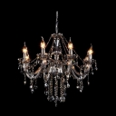 Bright Crystal Chains and Droplets Clear Crystal Chandelier Hanging Sphere