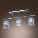 Elegant Chrome and Crystal Pendant Light  Perfect Choice for Over Kitchen or Rectangular Dining Table