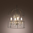 Bird Cage Intriguing Pendant Light with Sparkling Crystal Strands