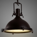 Nautical Pendant Light with Frosted Diffuser