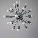Vintage Style Burst 24-light LED Ceiling Lamp in Chrome