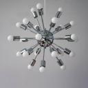 Vintage Style Burst 24-light LED Ceiling Lamp in Chrome