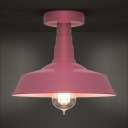 Pink Lady Semi Flush 1 Light Ceiling Light