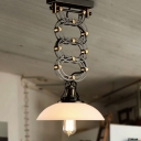 Antique Black 1 Light LED Pendant with Dome Shade