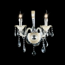 Stunning Two Candelabra Fixture Illuminate 16'' High Exquisite  Crystal Wall Sconce
