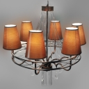 Antique Bronze Crystal Droplets and Chocolate Shade 27.5