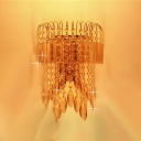 Give Your Wall Decor a Boost with Sparkling Gold Finish Crystal Wall Sconce