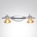 Polished Chrome Finish and Graceful Crystal Shade Beguiling Combination in Dazzling Wall Sconce
