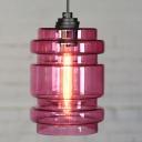 Purple/ Blue Industrial Colored LOFT Glass Pendant Light