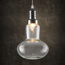 Clear Glass Globe Mini Pendant Light in Bulb Style