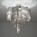 Modern Beautiful Chain Veiled Flush Mount Ceiling Light