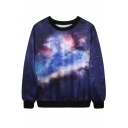 Unique Style Galaxy Print Sweatshirt