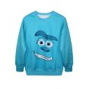 Blue Monsters University Print Sweatshirt