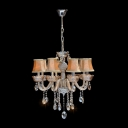 Faceted Glittering Crystal Drops Exquisite Design Bell Shade Dizzying Crystal Chandelier