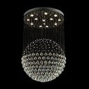 Plentiful Crystal Balls Suspension Together 13-Light Large 23.6