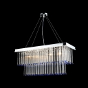 Clear Hand Cut Crystal Gives Contemporary Pendant Light Sophisticated Look Full of Elegance