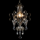 Romantic Swag Chandelier Features Intricate Crystal Strings for Glamorous Look